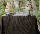 Black leather table linen from Candy Crush Events