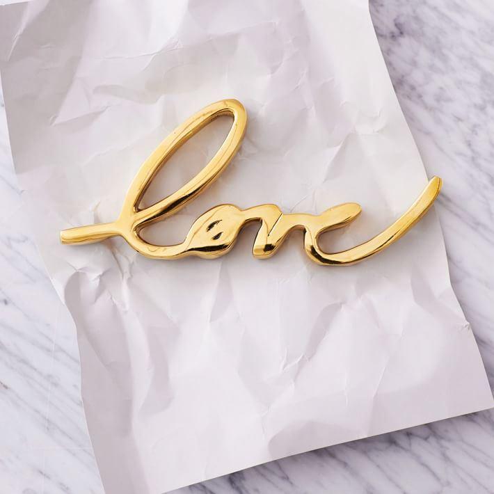 Brass Love Object from West Elm