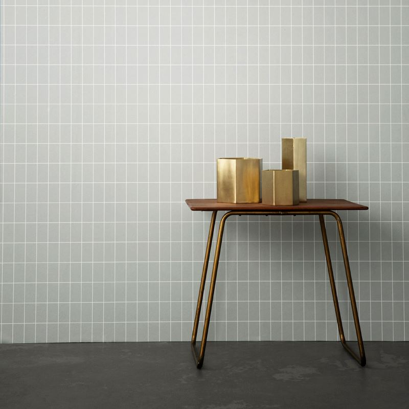 Brass hexagon vases from ferm LIVING