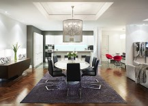 Brilliant-chandelier-above-the-dining-table-steals-the-show-here-217x155