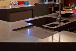Brown Silestone Sink  Get Stoned: 11 Incredible Kitchen Sinks Made from Rock Brown Silestone Sink