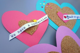 Colorful DIY Cork Valentines