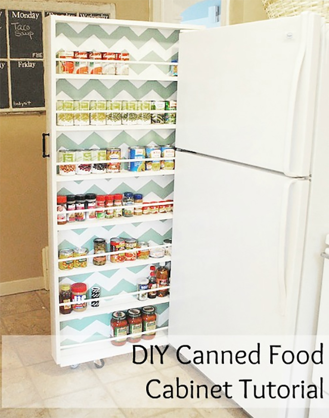 Canned Food Cabinet DIY  8 Pretty Pantry Door Ideas That Showcase Your Storeroom as a Star Canned Food Cabinet DIY