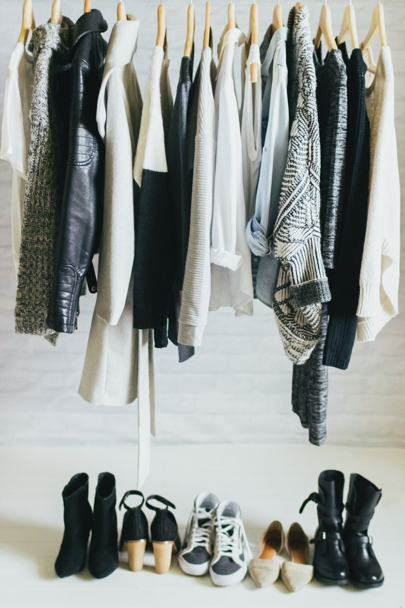 Capsule wardrobe featuring neutral tones