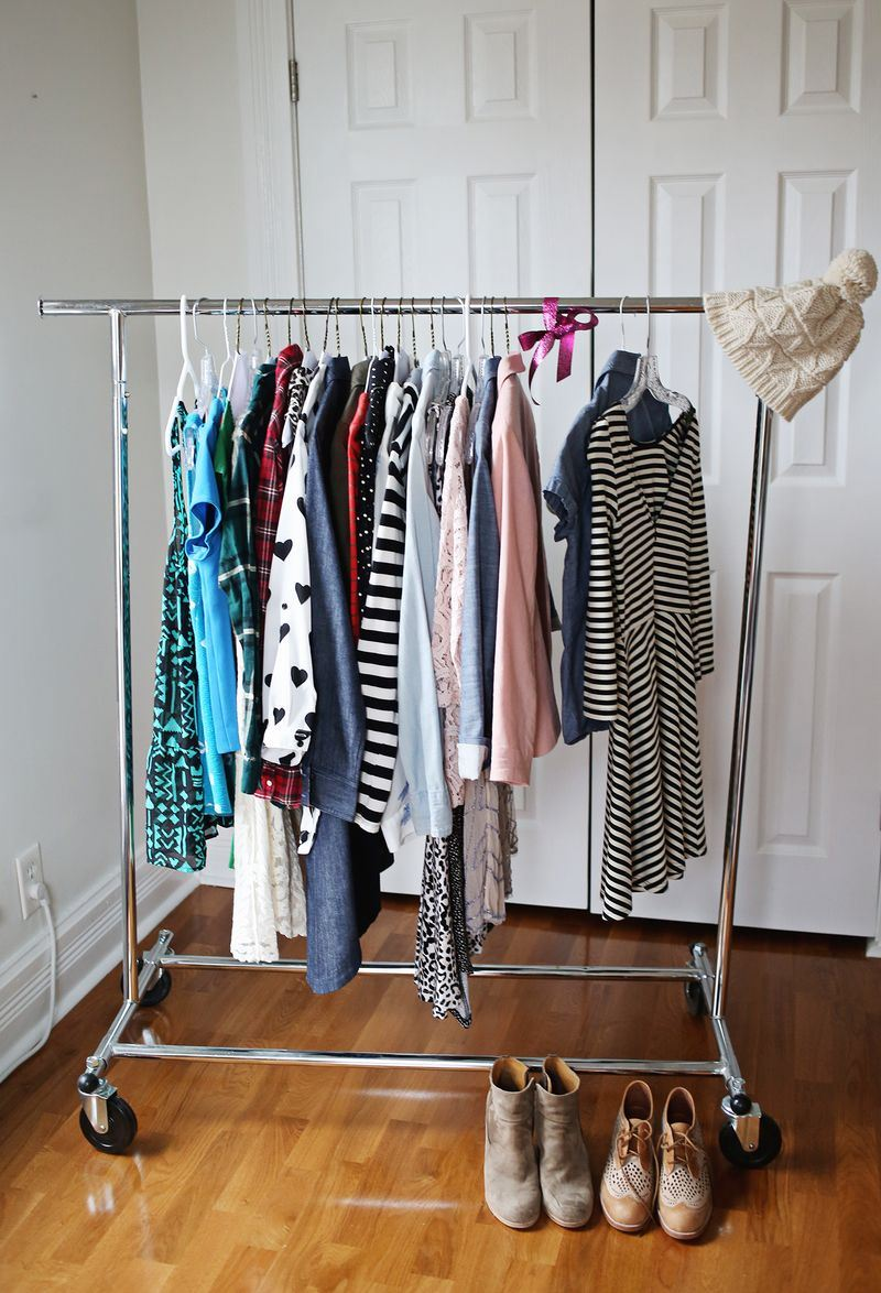 Capsule wardrobe from A Beautiful Mess  Organize Your Closet with a Capsule Wardrobe Capsule wardrobe from A Beautiful Mess