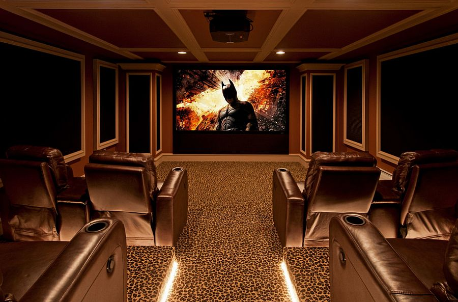 Carpet adds to the appeal of the home theater [Design: Alusta Construction]