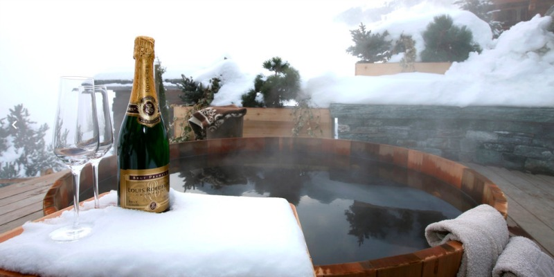 Chalet Spa Verbier hot tub