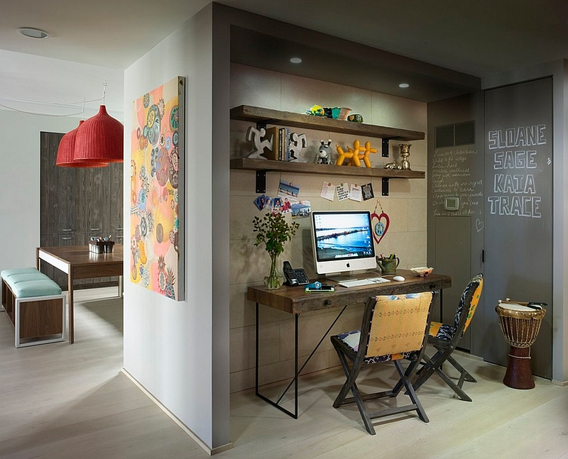 Paint for home office Benjamin Moore Chalkboard Paint Comes In Colors Beyond Black design Incorporated Decoist 20 Chalkboard Paint Ideas To Transform Your Home Office