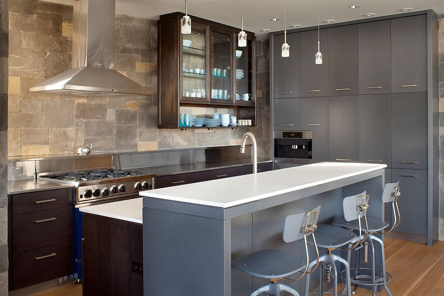 Classy use of gray in the modern kitchen