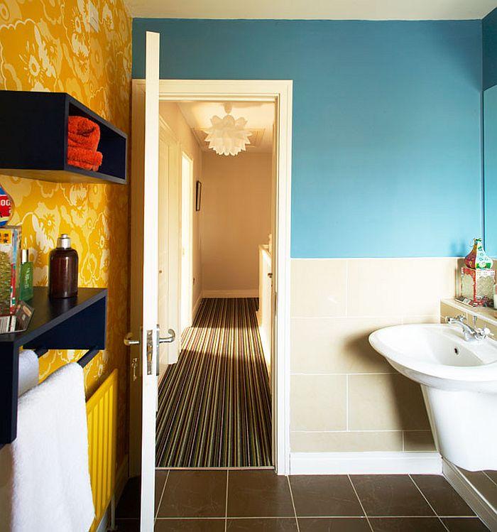 Colorful, small bathroom idea [Design: Think Contemporary]
