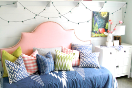 Colorfully Decorated Daybed  8 Dreamy Daybeds That Do Double Duty as Seating Colorfully Decorated Daybed 270x180