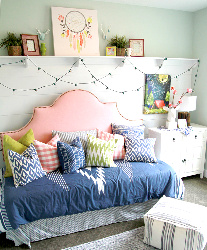 Colorfully Decorated Daybed