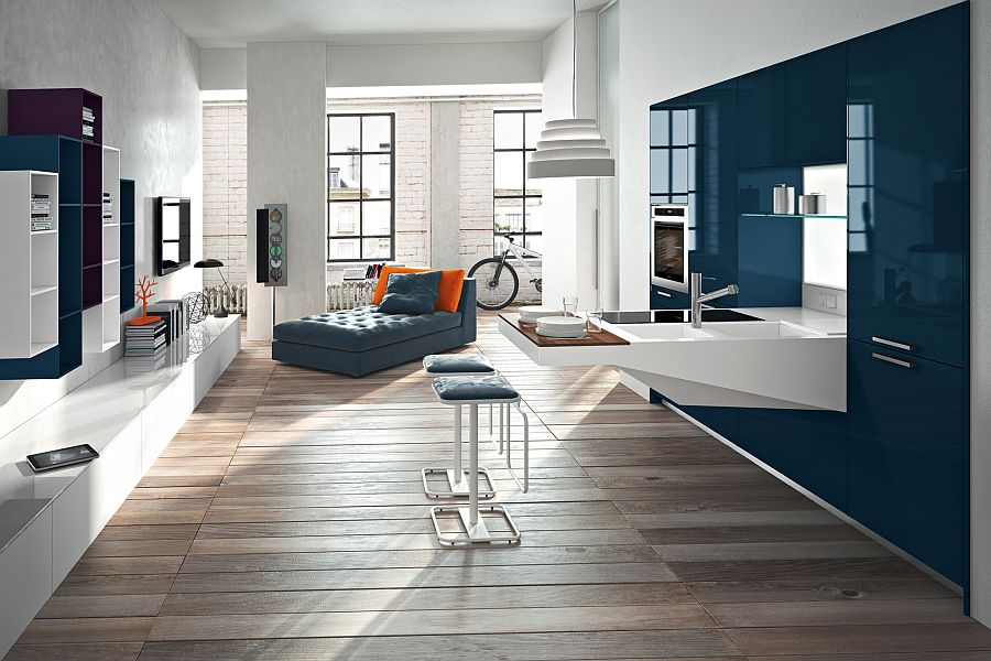 Combine the kitchen with the living area in a dynamic and stunning fashion with Board