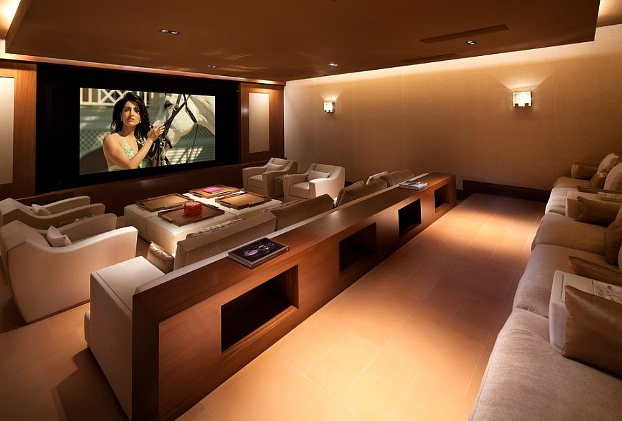 Comfy home theater with smart lighting