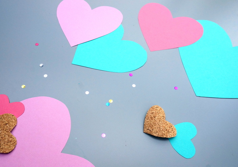 Confetti and hearts