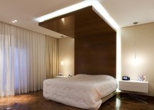 Contemporary bedroom with ingenious design