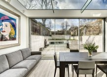 Contemporary extension in glass houses the dining area 217x155 Victorian Townhouse in London Gets a Classy Contemporary Extension