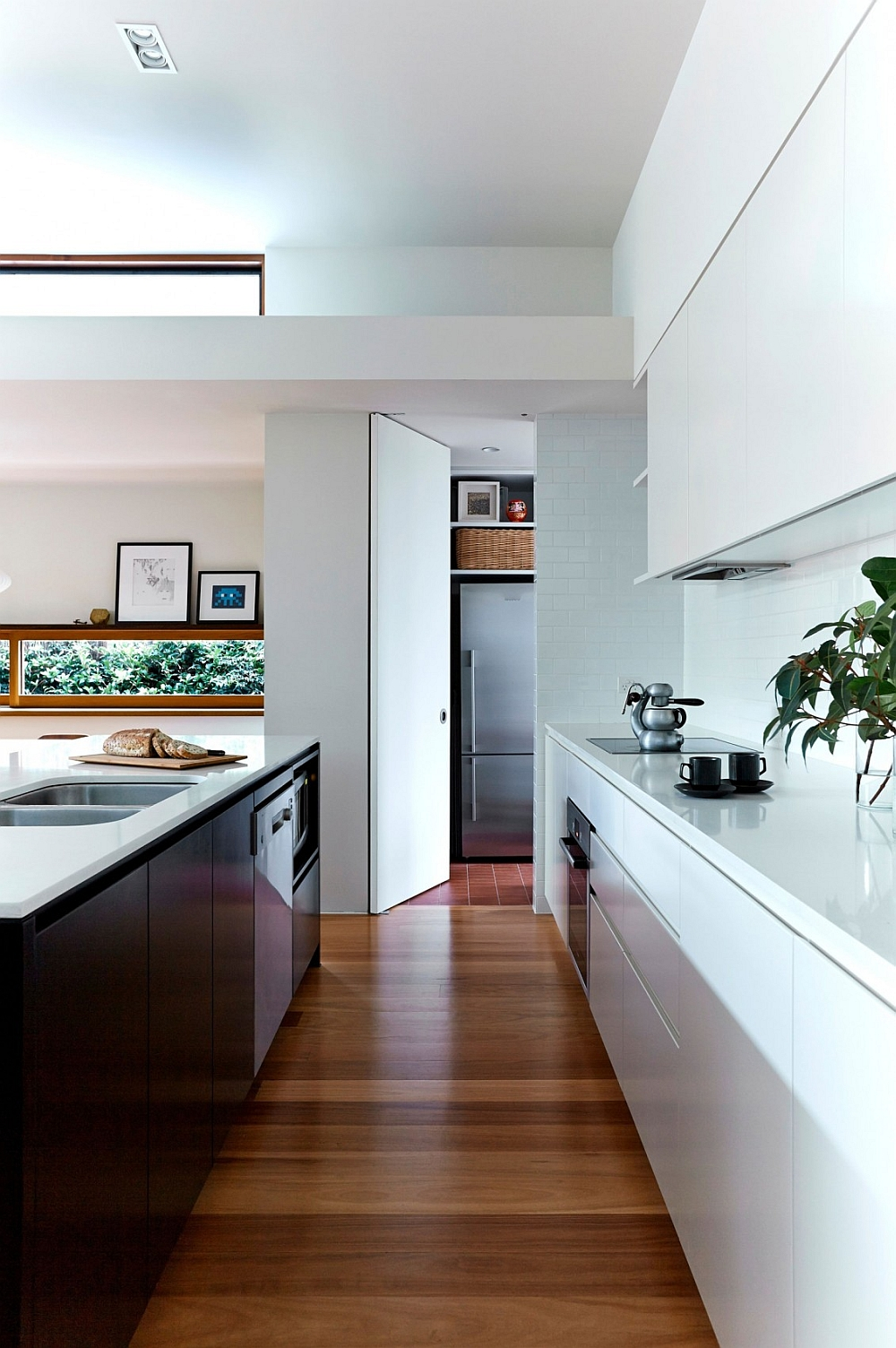 Contemporary kitchen in white with a hint of gray