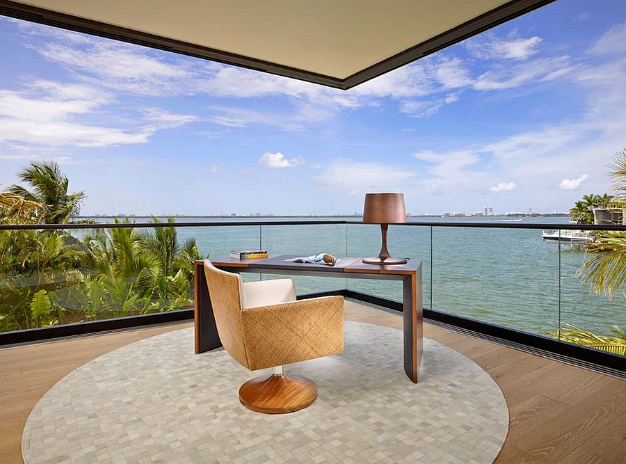 Cool home office brings the sights and sounds outside indoors 12 Remarkable Home Offices with an Ocean View