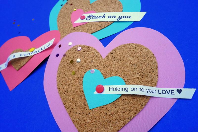 Cork heart valentines