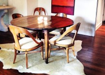 Cowhide rig for the small dining room
