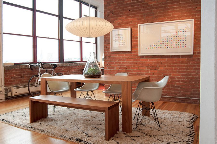 view in gallery cozy dining room with nelson pendant light design kea industrial lighting