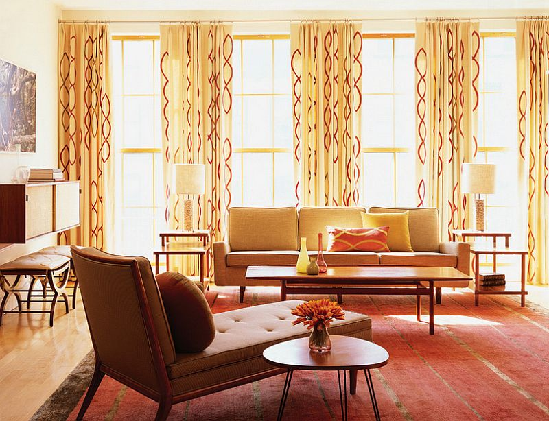 Curtains add pattern to the room with ease [Design: Amy Lau Design] : same-curtains-in-every-room - designwebi.com