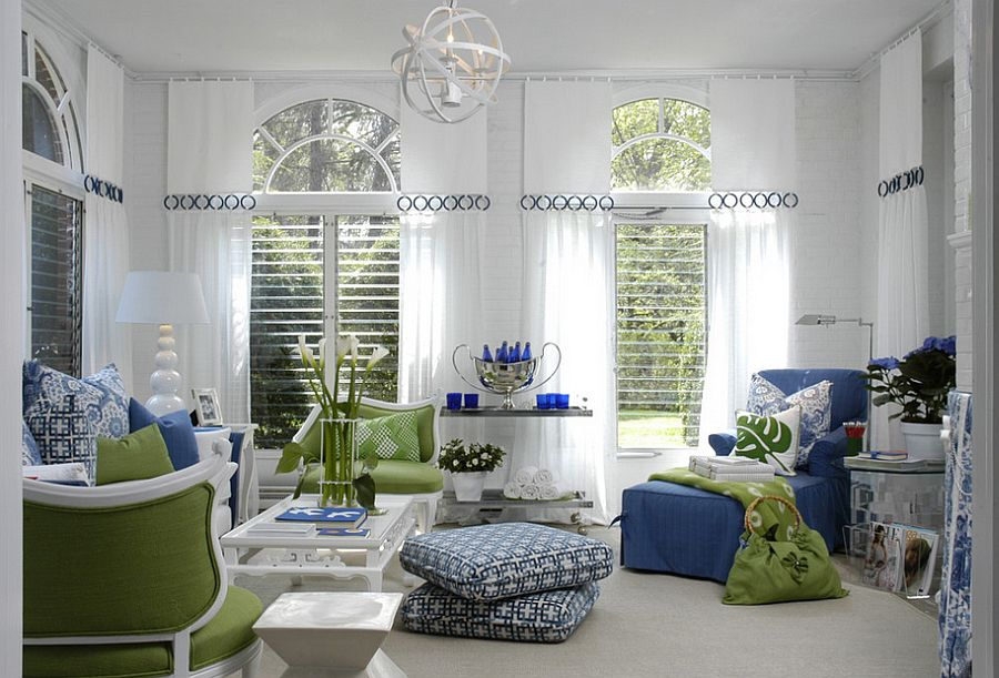 Custom curtains add class and beauty to the living room [Design: Eileen Kathryn Boyd Interiors]