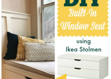 DIY Built in Window Seat 217x155 8 Awesome Pieces of Bedroom Furniture You Wont Believe are IKEA Hacks
