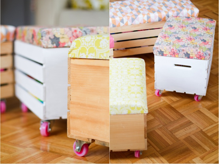 DIY Toy Box with Castors for Rolling