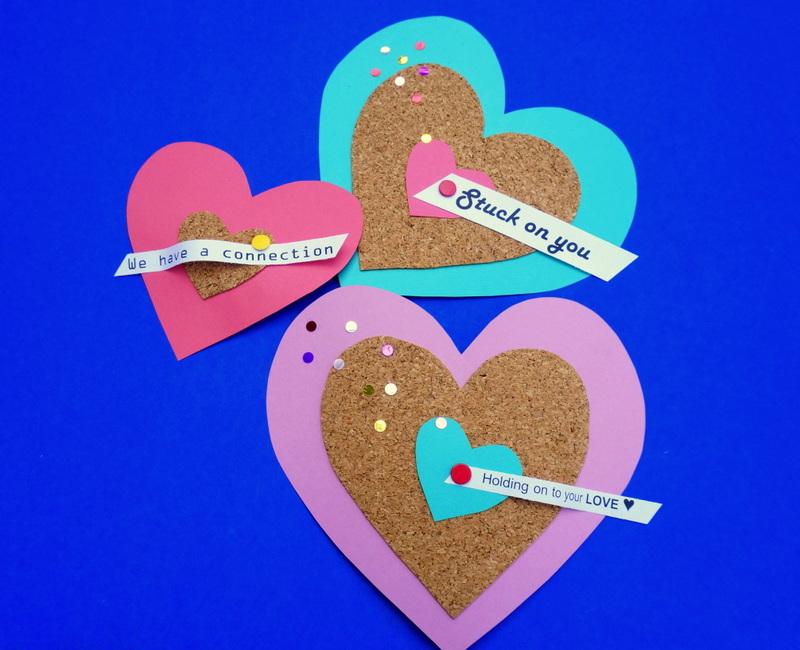 DIY cork valentines