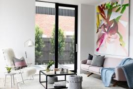 Chic Crisp Street Apartment in Melbourne Exudes Cheerful Refinement