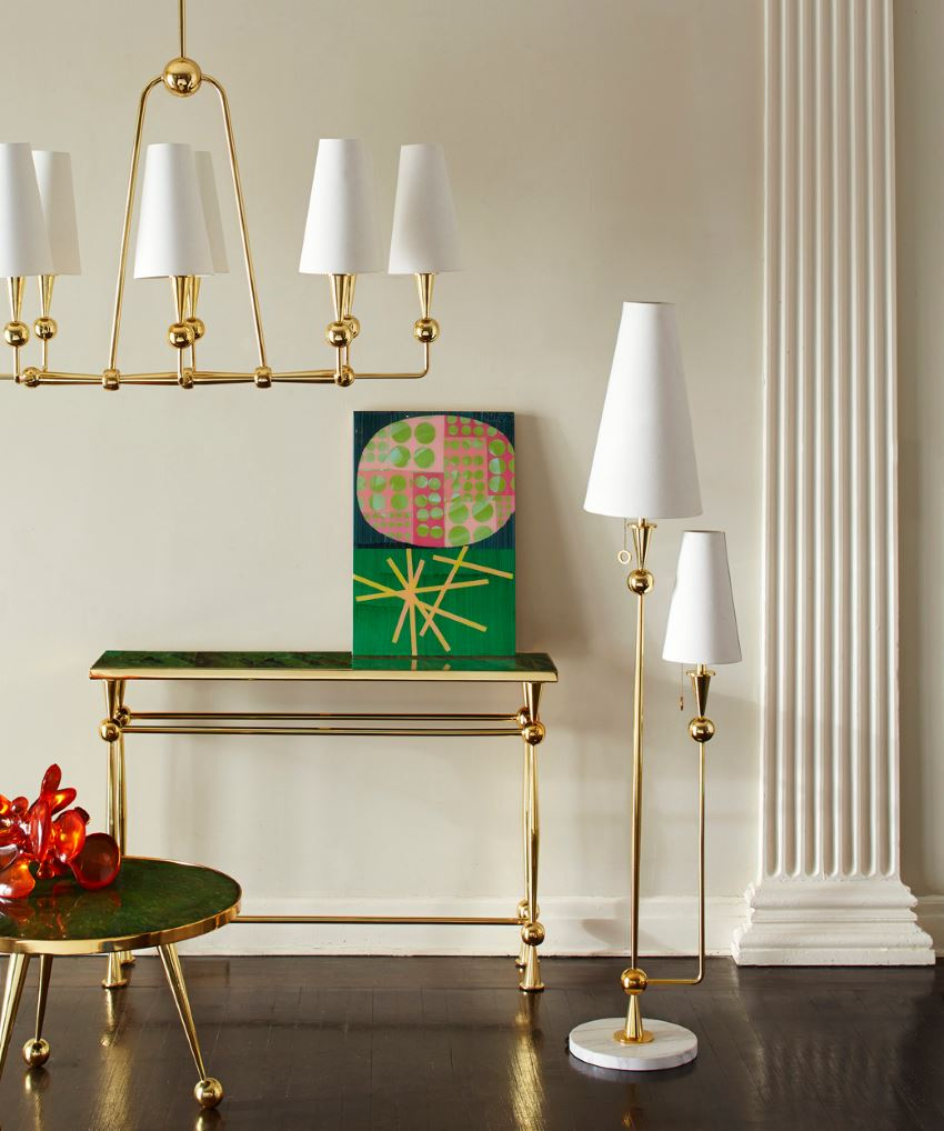 Double-shade floor lamp from Jonathan Adler