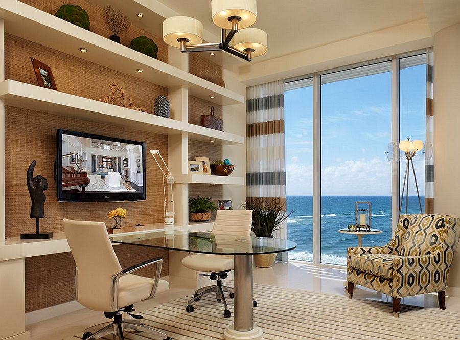 Contemporary Home Office Design Ideas: 12 Remarkable Home Offices With An Ocean View