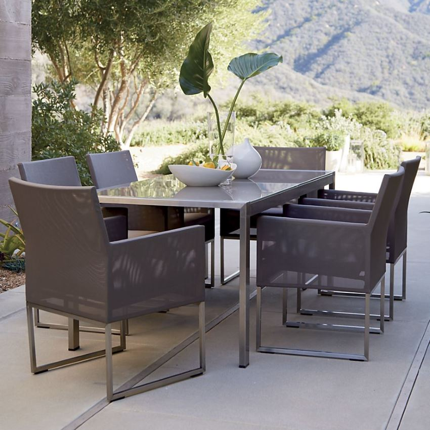 Dune dining furniture from Crate & Barrel