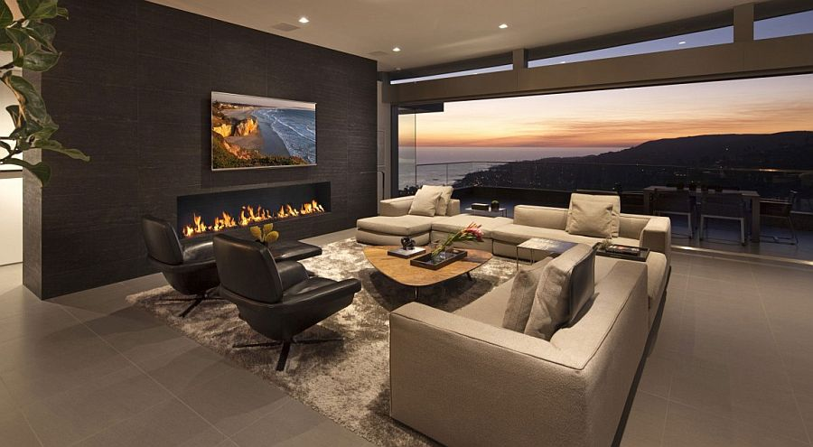 Elegant and plush decor add to the ambiance of the living room