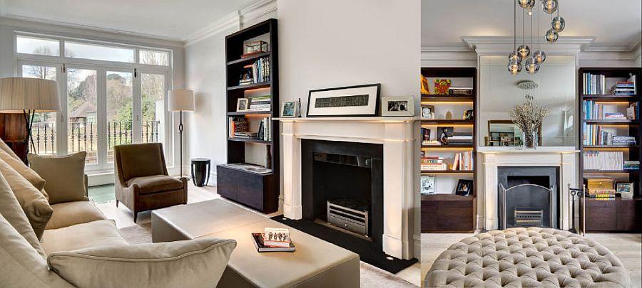 Elegant living area with plush decor and brilliant lighting