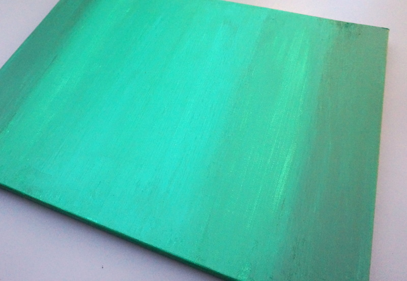 Emerald tones in a DIY painting