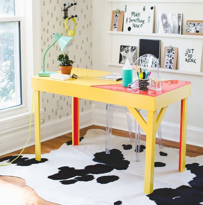 Epoxy-topped desk project from A Beautiful Mess