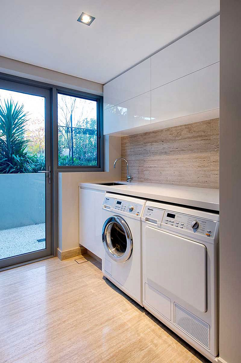 Ergonomic small laundry room design decoist for Small utility room