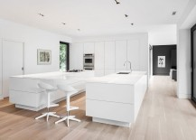 Exquisite contemporary kitchen in white