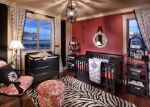 Exquisite-use-of-pink-and-black-in-the-nursery-217x155