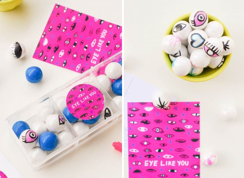 Eye gumball valentines from Proper