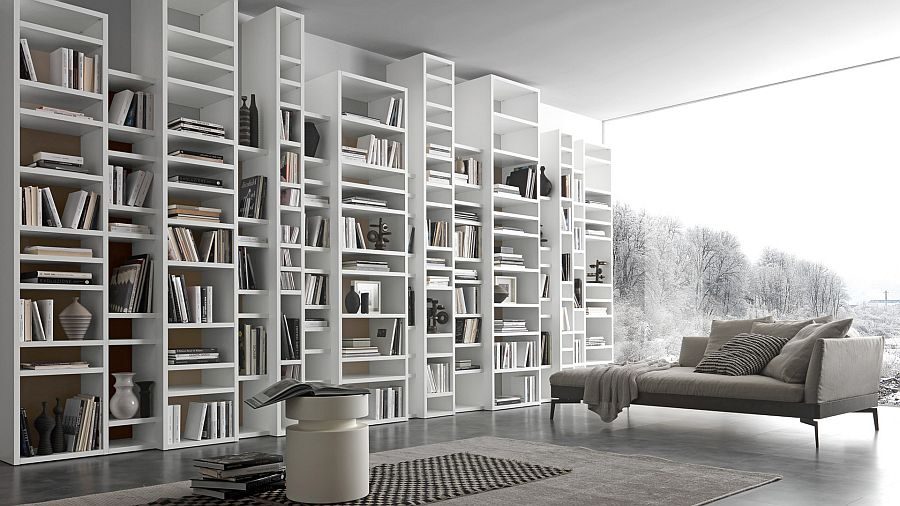 15 modular bookcase compositions that offer design flexibility. Black Bedroom Furniture Sets. Home Design Ideas