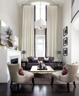Fabulous contemporary living room with transitional style [Design: Jane Lockhart Interior Design]
