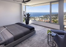 Fabulous master bedroom offers sensational views of Laguna Beach