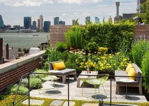 Fabulous rooftop garedn combines lovely views with greenery