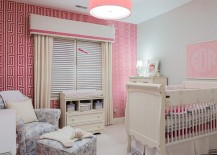 Fabulous-use-of-pink-wallpaper-in-the-nursery-217x155
