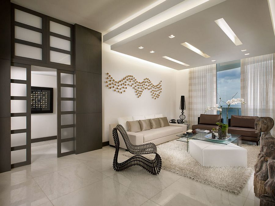 ... False Ceiling Adds Unassuming Beauty To The Living Room [Design: Guimar  Urbina   KIS