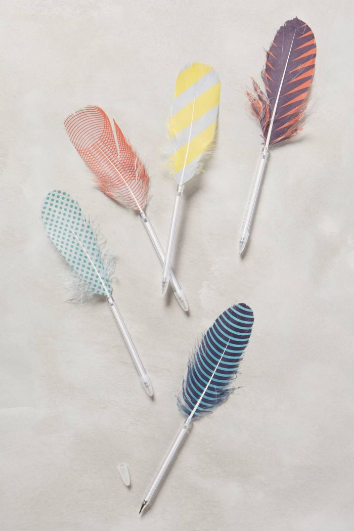 Feather pens from Anthropologie